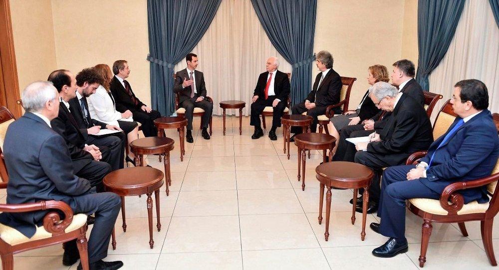Doğu Perinçek heyetinin Suriye ziyareti