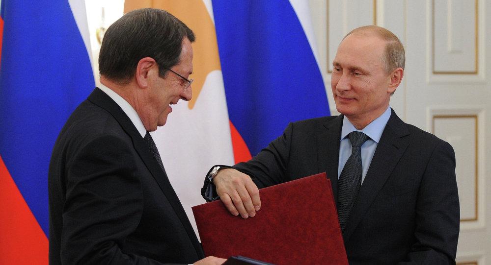 Rusya Devlet Başkanı Vladimir Putin - Güney Kıbrıs Rum yönetimi lideri Nikos Anastasiadis