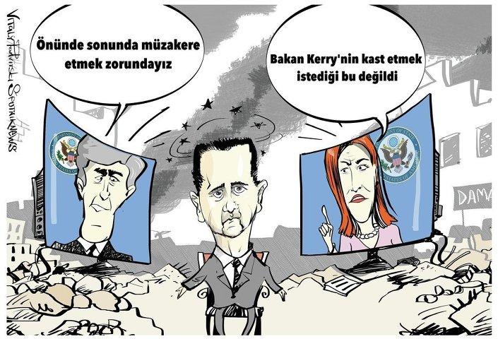Psaki: Bakan Kerry 'Esad olmalı' demedi