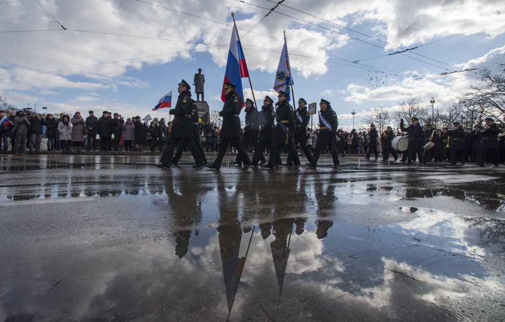 Sivastopol'de düzenlenen resmi geçit