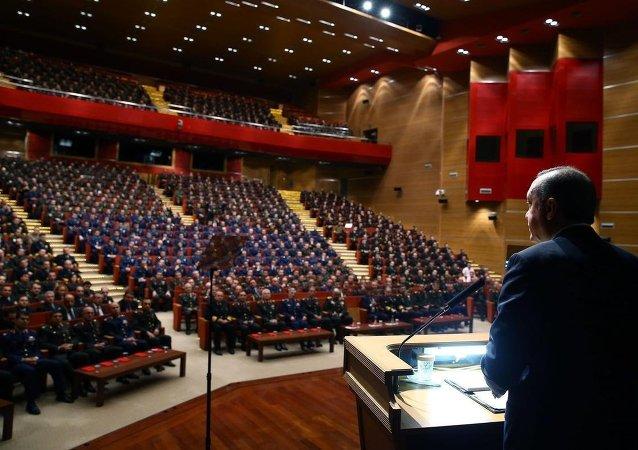 Erdoğan, Harp Akademileri Komutanlığı'nda konuştu