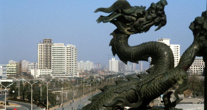 Çin. Şehir manzarası