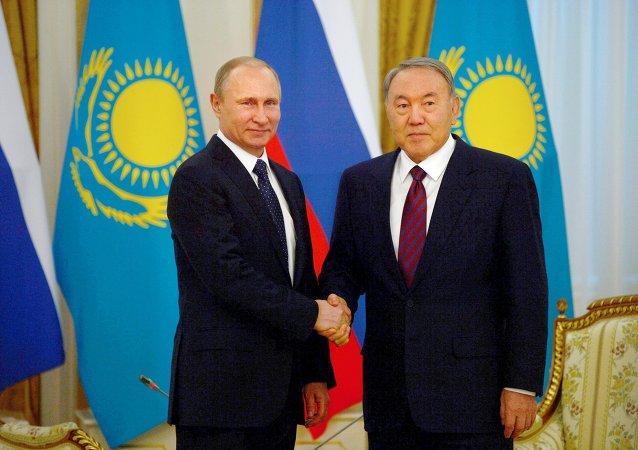 Rusya Devlet Başkanı Vladimir Putin- Kazakistan Devlet Başkanı Nursultan Nazarbayev