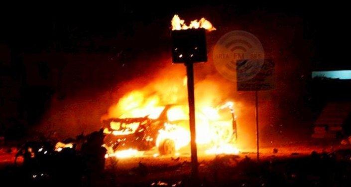 Haseki'deki patlamaya ilişkin Twitter'da yer alan fotolardan biri