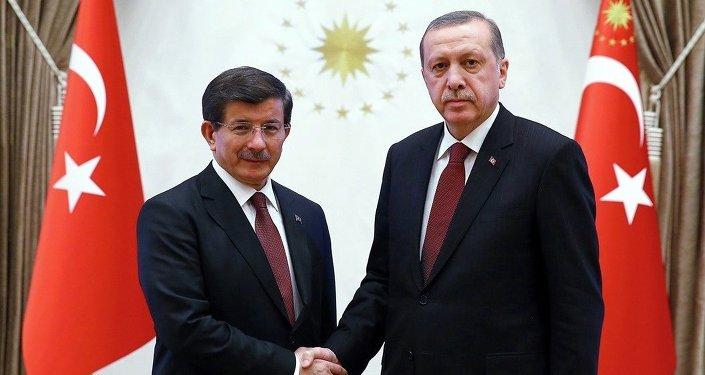 Başbakan Ahmet Davutoğlu- Cumhurbaşkanı Recep Tayyip Erdoğan