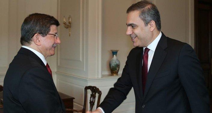 Başbakan Ahmet Davutoğlu-MİT Müsteşarı Hakan Fidan