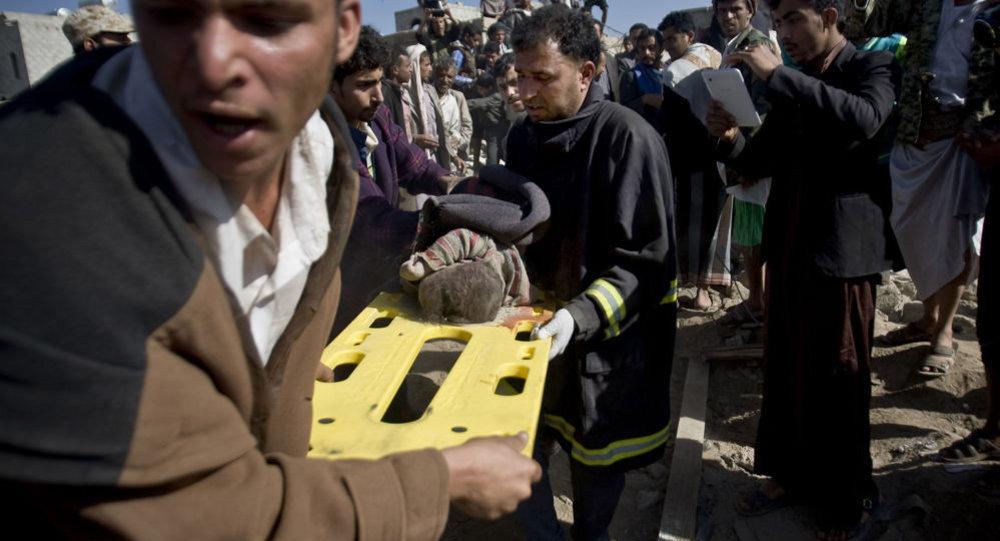 Yemen'deki bombardımanda sivil yerleşim birimleri de hedef oldu