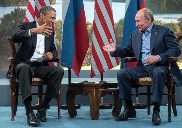 ABD Başkanı Barack Obama- Rusya Devlet Başkanı Vladimir Putin