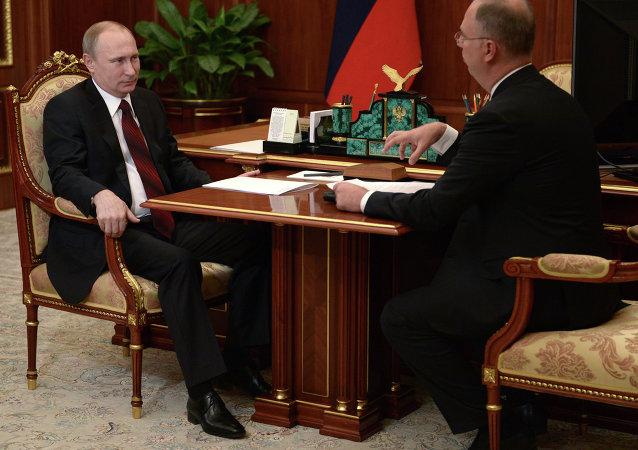 Rusya Devlet Başkanı Vladimir Putin ve Rusya Doğrudan Yatırımlar Fonu Başkanı Kirill Dmitriyev