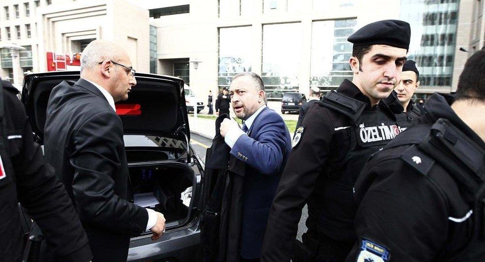 İstanbul Barosu Başkanı Ümit Kocasakal  Çağlayan Adliyesi'ne geldi.