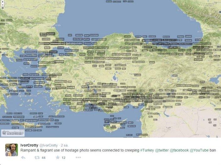 Türkiye'de yaygın olarak kullanılan Twitter ve YouTube sitelerine erişilemiyor.