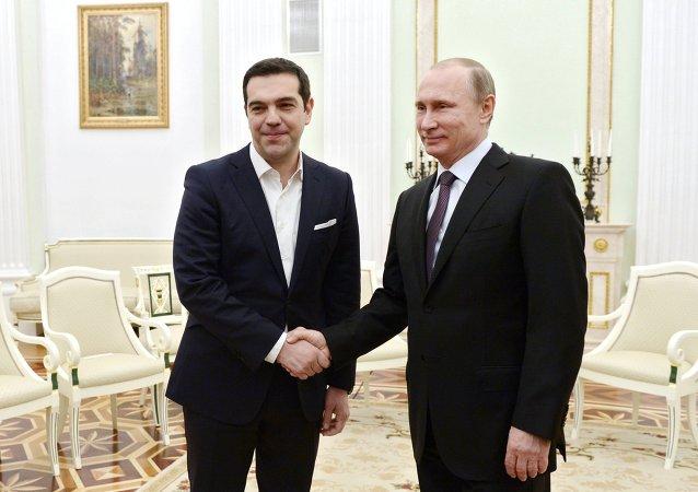 Vladimir Putin & Alexis Çipras