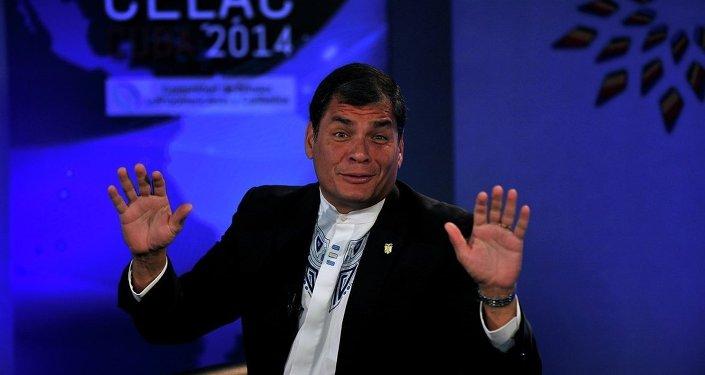 Ekvador Devlet Başkanı Rafael Correa