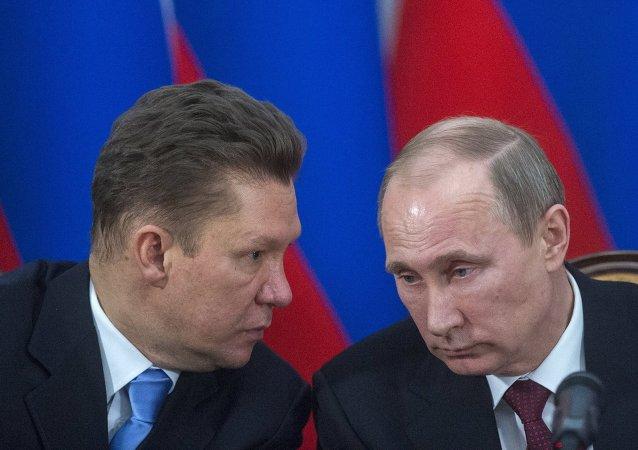 Vladimir Putin-Aleksey Miller