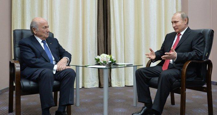 Vladimir Putin & Joseph Blatter