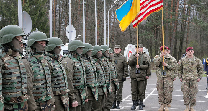 ABD ve Ukrayna askerlerinden askeri tatbikat