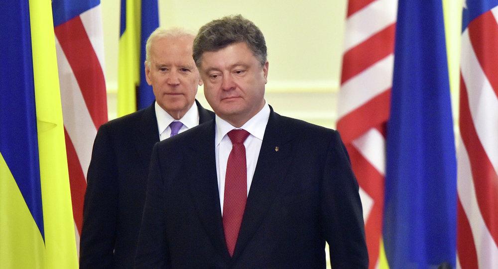 ABD Başkan Yardımcısı Joe Biden- Ukrayna Devlet Başkanı Pyotr Poroşenko
