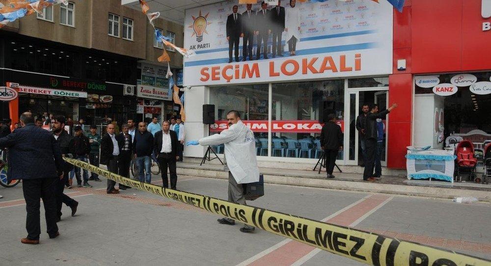 Batman'da AK Parti seçim bürosuna saldırı