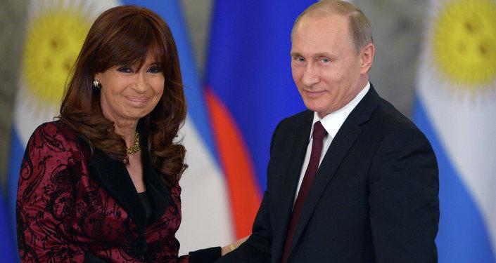 Vladimir Putin & Cristina Fernandez de Kirchner