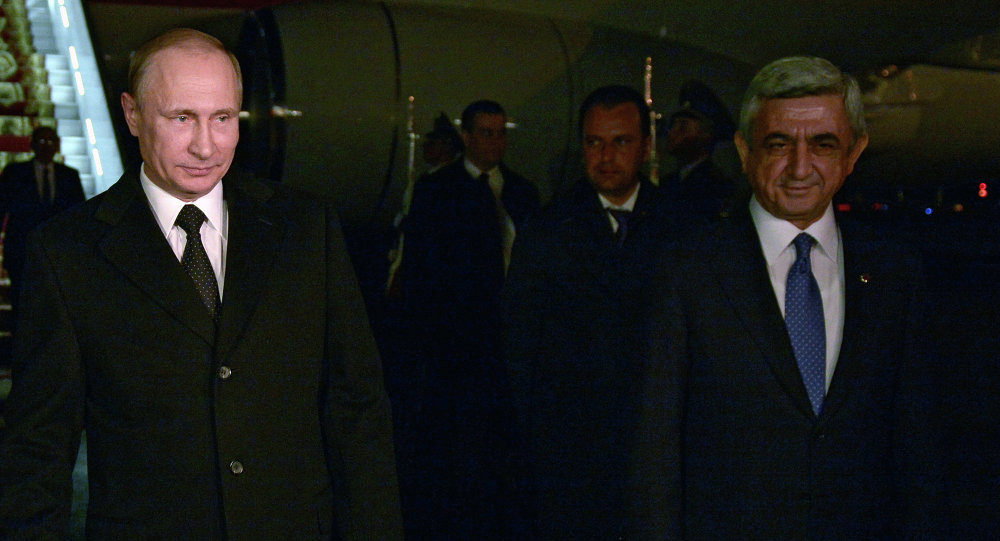 Rusya Devlet Başkanı Vladimir Putin ve Ermenistan Devlet Başkanı Serj Sarkisyan
