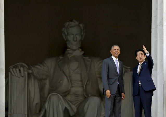 ABD Başkanı Barack Obama- Japonya Başbakanı Şinzo Abe
