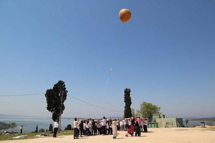 Börek ustası Hasan Acar,stratosfer balonu ile gökyüzüne peynirli börek bıraktı.