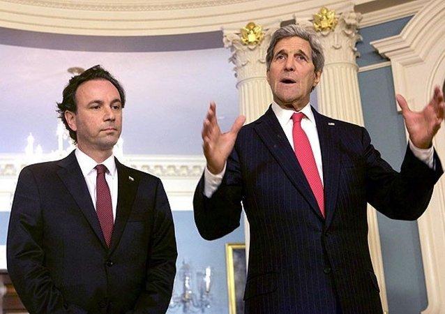 SMDK Başkanı Halid Hoca, ABD Dışişleri Bakanı John Kerry
