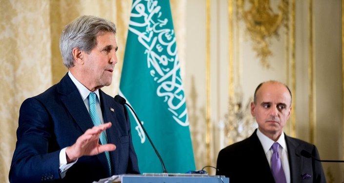 ABD Dışişleri Bakanı John Kerry ve Suudi Arabistan Dışişleri Bakanı Adil el-Cubeyr