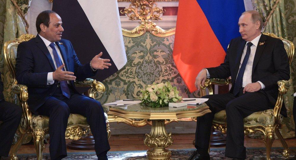 Mısır Cumhurbaşkanı Abdulfettah Sisi- Rusya lideri Vladimir Putin