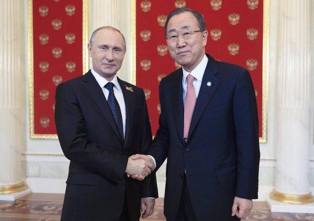 Vladimir Putin-Ban Ki-mun