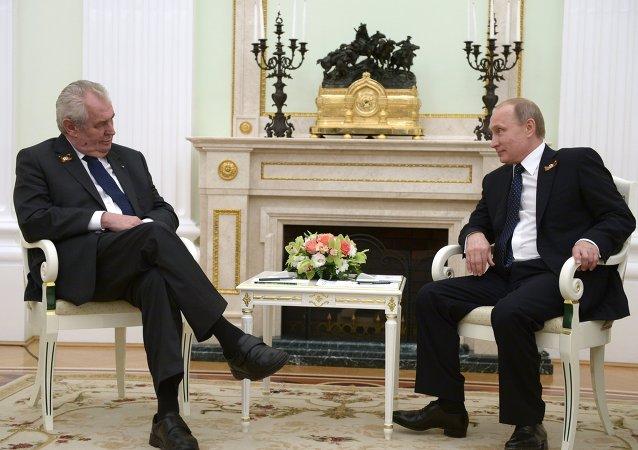 Vladimir Putin - Milos Zeman