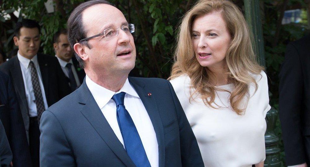 Fransa Cumhurbaşkanı François Hollande- Eski First Lady Valerie Trierweiler