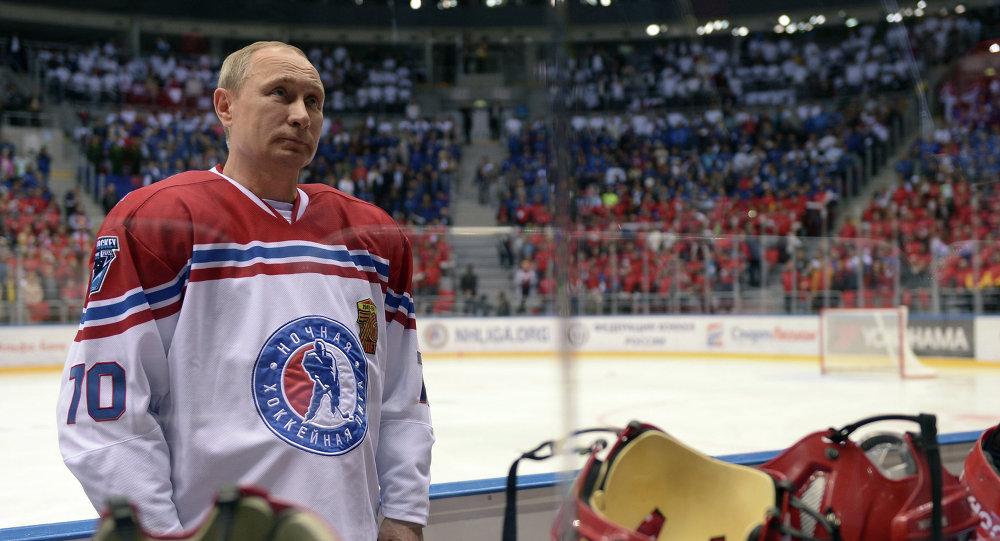 Vladimir Putin, Gece Hokey Ligi gala maçında