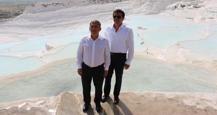 Tataristan Cumhurbaşkanı Minnihanov Denizli'de