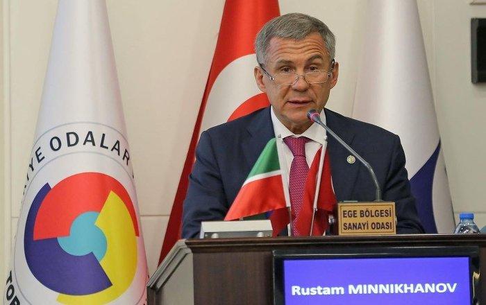 Tataristan Cumhurbaşkanı Minnihanov: Rusya'da yaşayan 20 milyon Müslümana helal gıda arzı için Türkiye'yle çalışacağız