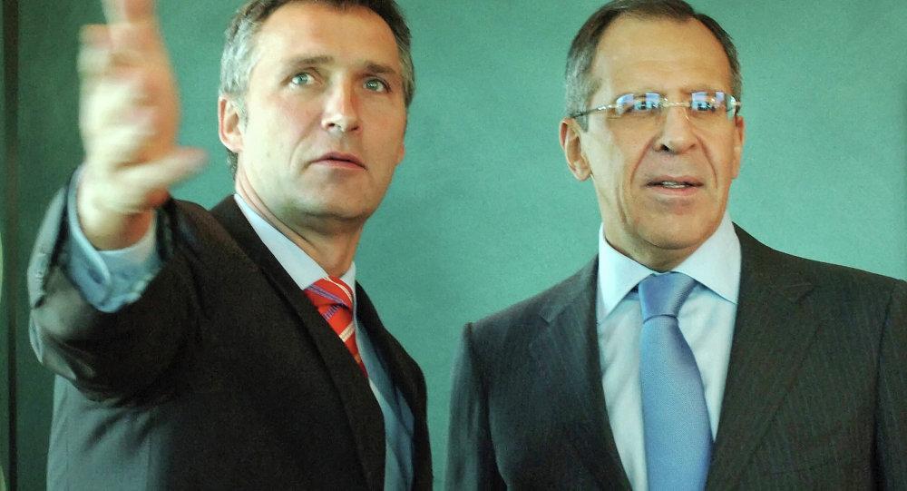 Jens Stoltenberg & Sergey Lavrov