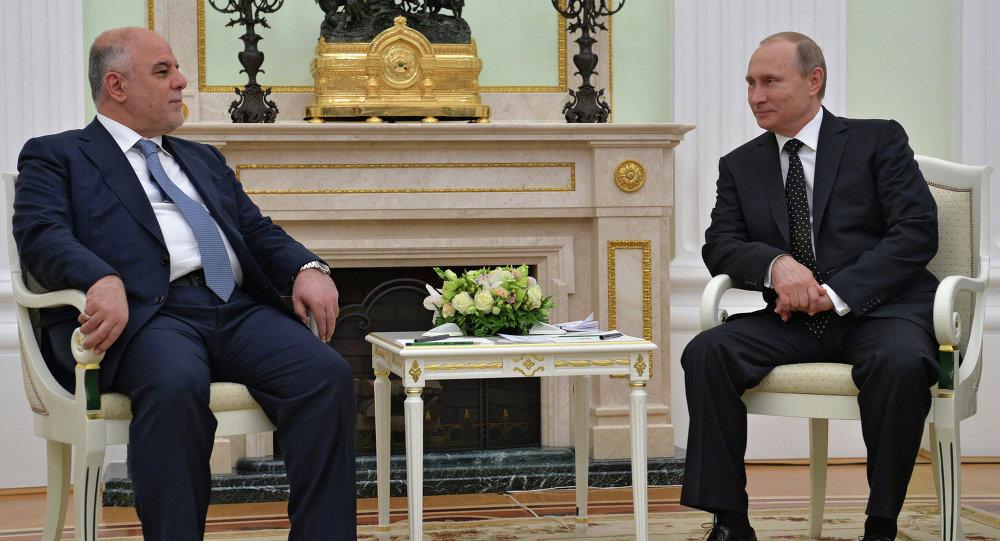 Rusya Devlet Başkanı Vladimir Putin ve Irak Başbakanı Haydar el İbadi