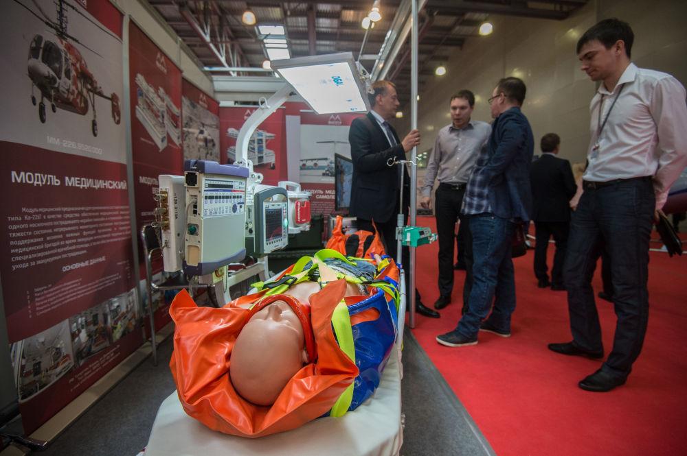 2015 HeliRussia  isimli 8. Uluslararası  Helikopter Endüstrisi  Fuarı'nda sergilenen tıbbı modül