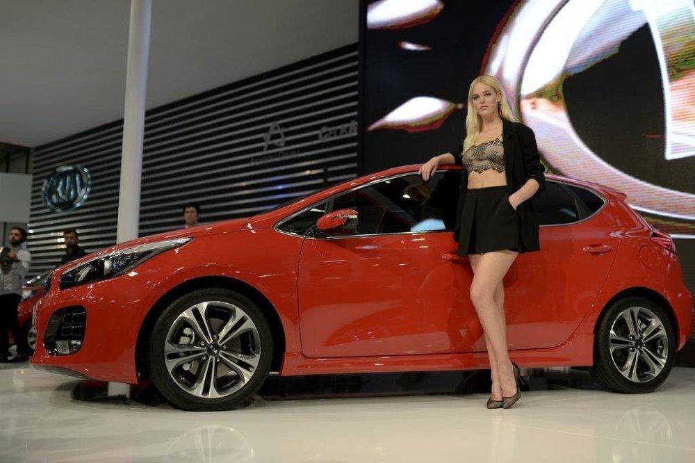 Dünyaca ünlü manken Erin Heatherton Cee'd GT-Line aracının tanıtımını yaptı.