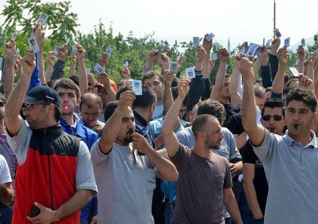 Kocaeli'deki otomotiv işçilerinin eylemi
