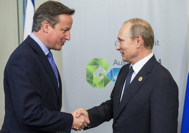 İngiltere Başbakanı David Cameron- Rusya Devlet Başkanı Vladimir Putin