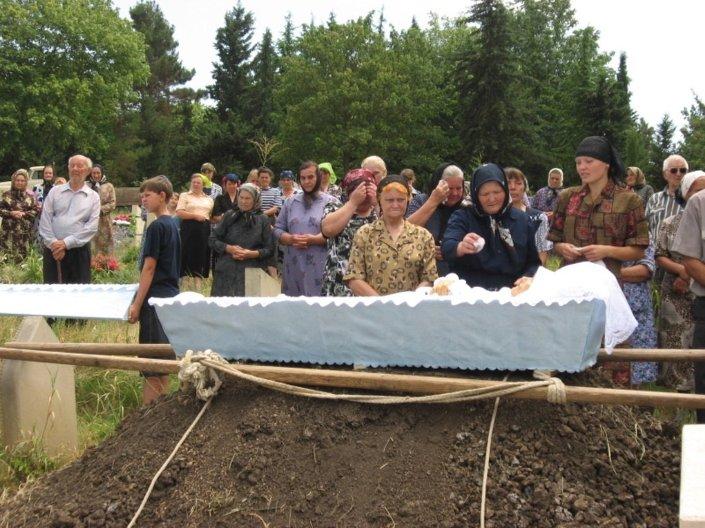 Azerbaycan'ın İsmaili bölgesindeki İvanovka köyünde yaşayan Malaknaların cenaze töreninden bir görüntü.