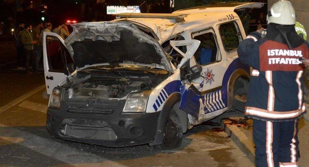 İstanbul polis trafik kazası