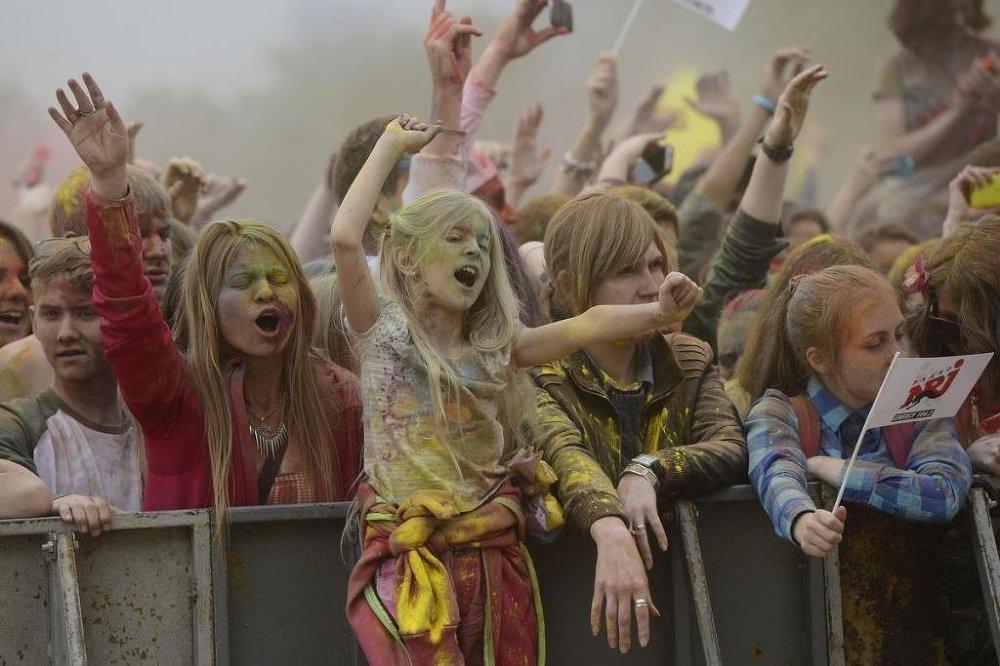Festivalde her rengin kendine göre bir anlamı var.