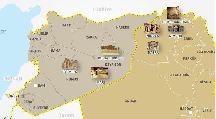 IŞİD'in eline geçen antik kentler