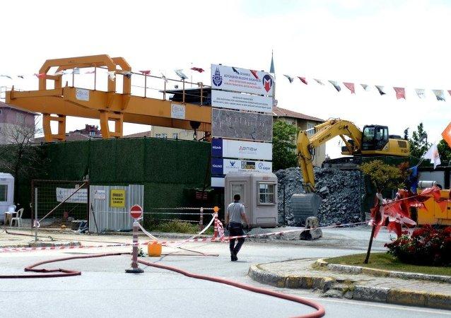 Alibeyköy'de doğalgaz hattında sızıntı