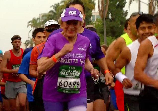 92 yaşında maraton koştu