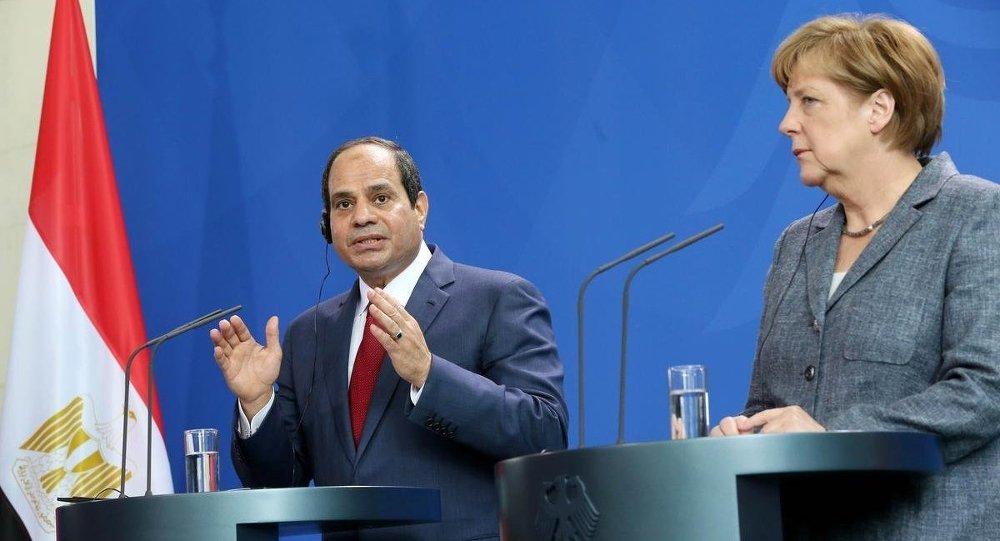 Abdülfettah El Sisi & Angela Merkel
