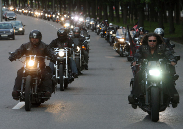 'Gece Kurtları' adlı motosiklet kulübünün üyeleri