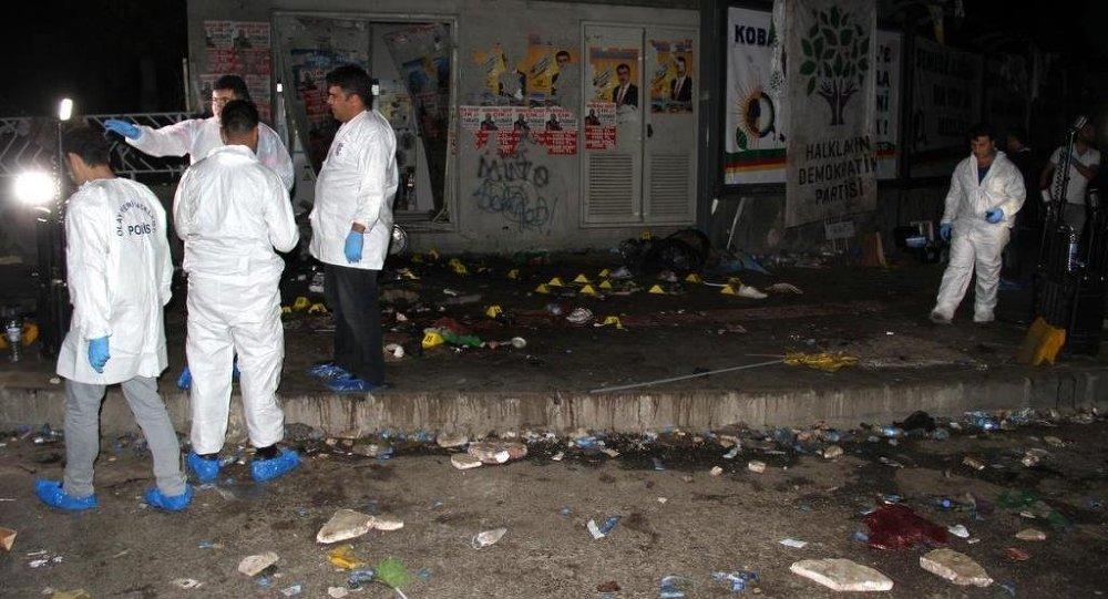 Diyarbakır HDP miting patlama